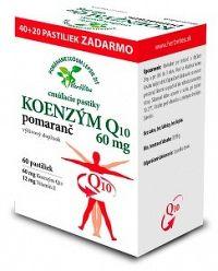 HerbVitea KOENZÝM Q10 60 mg cmúľacie pastilky pomarančová aróma 60 ks