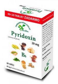 HerbVitea PYRIDOXÍN 20 mg 60 tbl