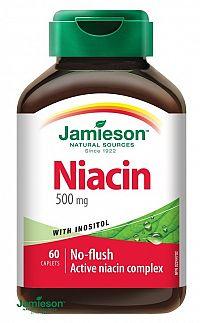 Jamieson Niacín 500 mg s inozitolom 60 tbl.
