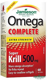 Jamieson Omega COMPLETE Super Krill 500 mg 60 cps.
