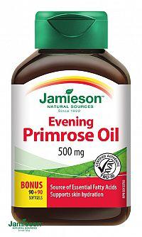 Jamieson Pupalkový olej s vitamínom E 500mg 90+90 kapsúl