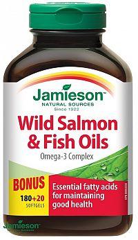 Jamieson Salmon Omega-3 komplex z lososa a rybích olejov 200 cps.