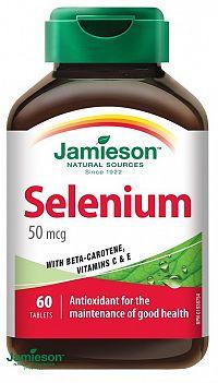 Jamieson Selén 50 µg s betakaroténom a vitamínmi C a E 60 tbl.