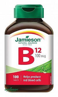 Jamieson Vitamín B12 kyanokobalamín 100 µg 100 tbl.