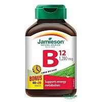 Jamieson Vitamín B12 metylkobalamín 1200 μg s postupným uvoľňovaním 80 tabliet