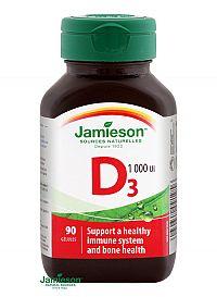 Jamieson Vitamín D 3 1000 IU 90 kapsúl