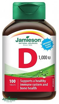 Jamieson Vitamín D3 1000 IU 100 tbl.