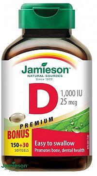 Jamieson Vitamín D3 1000 IU kapsuly 180 cps.