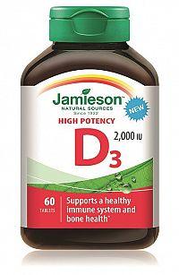 Jamieson Vitamín D3 2000 IU 60tbl