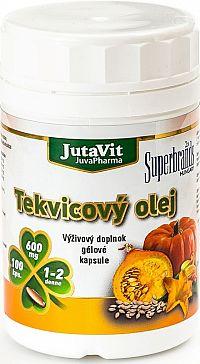 JutaVit Tekvicový olej v gélových kapsuliach 600mg 100 kapsúl