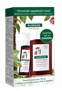 KLORANE FORCE TRI-ACTIVE sérum 100 ml + SHAMPOOING À LA QUININE,VIT.B 200 ml zdarma, 1x1 set