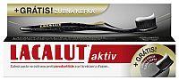 Lacalut AKTIV zubná pasta 75 ml + ZADARMO Lacalut AKTIV zubná kefka – black edition