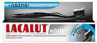 Lacalut White zubná pasta 75 ml + ZADARMO Lacalut AKTIV zubná kefka – black edition