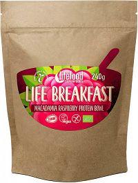 Lifefood LIFE BREAKFAST BIO RAW Kaše malinová s makadamiemi 240g