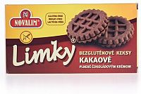 Limky Diétne Keksy kakaové bezlepkové, plnené 150 g