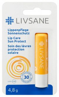 LIVSANE Balzam na pery Sun protect faktor 30, 1x4,8 g