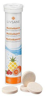 LIVSANE Multivitamín šumivé tablety 20ks