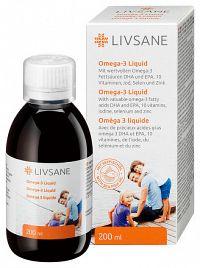 LIVSANE Omega-3 tekutina s vitamínmi a minerálmi roztok 1x200 ml