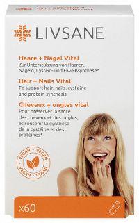 LIVSANE Podpora pre zdravé vlasy a nechty cps 1x60 ks
