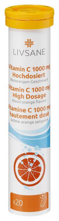 LIVSANE Vitamín C 1000mg šumivé tablety 20ks