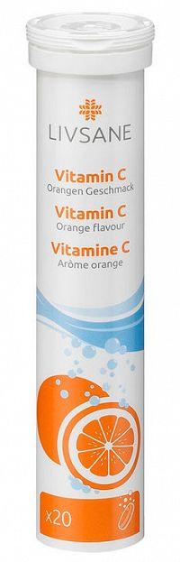 LIVSANE Vitamín C šumivé tablety 20ks
