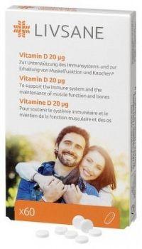LIVSANE Vitamín D 20 μg tbl 1x60 ks