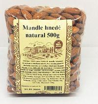 Mandle natural hnedé 500g Najtelo