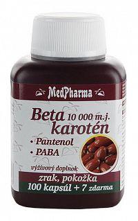 MedPharma Beta karoten 10.000 m.j.Pantenol PABA 107 tabliet