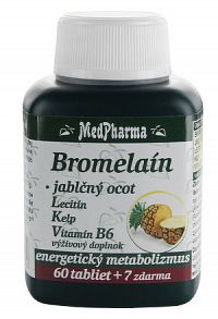 MedPharma BROMELAIN 300 mg + JABL.OCOT + LECITIN tbl 60+7 zadarmo