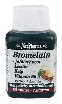 MedPharma Bromelaín 300mg + Jablčný ocot + Lecitín 30+7tbl zadarmo