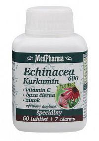 MedPharma ECHINACEA 600 Forte - Kurkumín tbl 60+7 zdarma