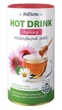 MedPharma HOT DRINK bylinný prášok, priedušková zmes, 1x200 g