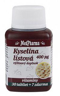 MedPharma Kyselina listová 400mcg 30+7tbl zadarmo