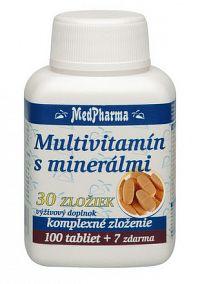 MedPharma MULTIVITAMÍN S MINERÁLMI 30 ZLOŽIEK tbl 100+7 zadarmo