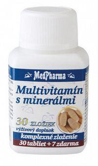 MedPharma MULTIVITAMÍN S MINERÁLMI 30 ZLOŽIEK tbl 30+7 zadarmo