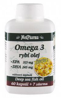 MedPharma OMEGA 3 rybí olej forte - EPA DHA cps 60+7 zadarmo