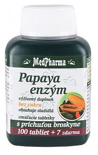 MedPharma Papaya enzym chew. 107 tabliet