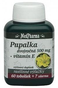 MedPharma Pupalka dvojročná 500mg + Vitamín E 60+7cps zadarmo