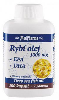 MedPharma Rybí olej 1000mg+EPA+DHA tabliet 107
