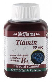 MedPharma TIAMÍN 50 mgtbl 60+7 zadarmo