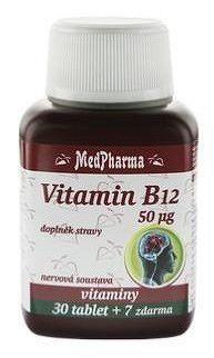 MedPharma VITAMÍN B12 50 µg tbl 30+7 zdarma