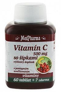 MedPharma Vitamín C 500mg so šípkami 60+7tbl zadarmo