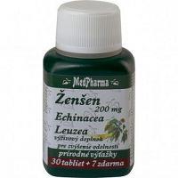MedPharma Ženšen 200 mg Echinacea Leuzea 37 kapsúl