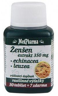 MedPharma Ženšen 350mg + Echinacea + Leuzea 30+7tbl zadarmo