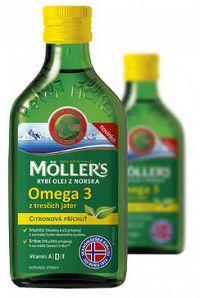 Mollers Omega 3 rybí olej citron 2x250ml