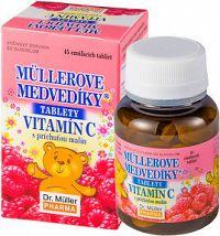 MÜLLEROVE medvedíky - vitamín C tbl s príchuťou malín 1x45 ks