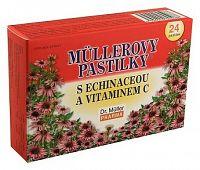 Müllerove pastilky echinacea + Vitamín C 24 tbl