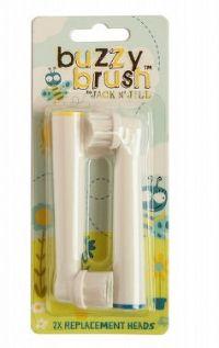 Náhrady na elektrickú zubnú kefku Buzzy Brush 2 ks - NOVÁ