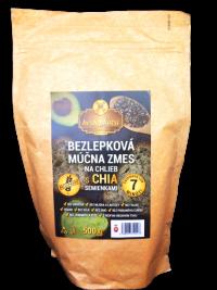 NAJTELO Bezlepková múčna zmes na viaczrnný chlieb s chia semienkami 500g