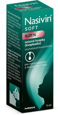 Nasivin SOFT nosové kvapky 0,01% 5 ml